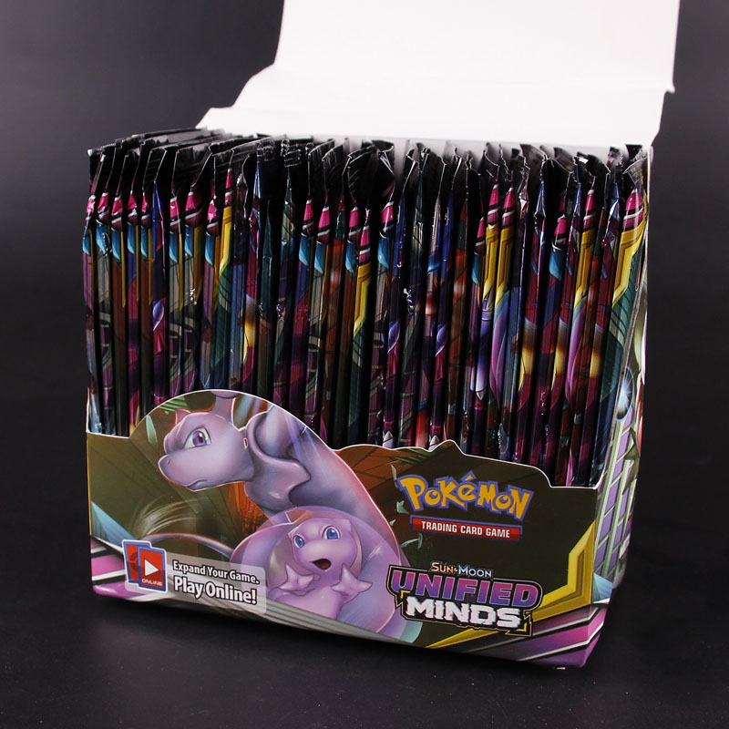 324 pçs caixa cartão pokemon tcg: sun