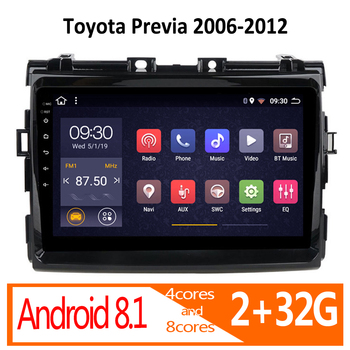 Gar radio para Toyota Previa, Android, 2G RAM, 2006, 2007, 2008, 2009,...