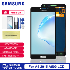 A500 LCD For Samsung Galaxy A5 2015 LCD Display Screen Touch Digitizer Assembly For SM-A500F A500M With Adjustable Brightness