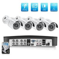 8CH 2.0MP Camera An Ninh Hệ Thống Bộ 4 1080P AHD Chống Nước Đường Ngoài Trời Giám Sát Video Bộ Hệ Thống Camera Quan Sát HDD