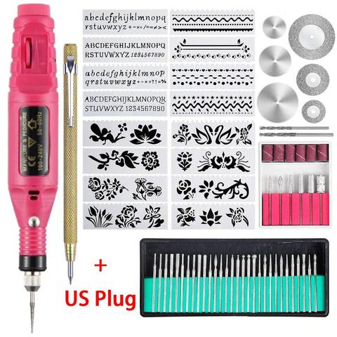 70 pcs eletrica mini gravador caneta mini diy ferramenta de gravura kit para metal vidro