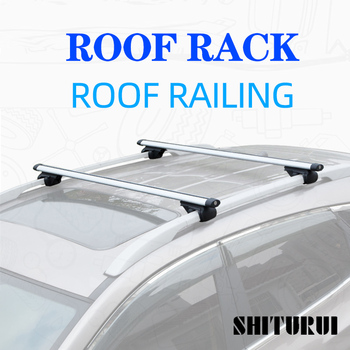 Universal 135CM Car Roof Racks Cross Bars Crossbars 75kg 150LBS For Car With Side Rails Work With Kayak Cargo Ski Racks image