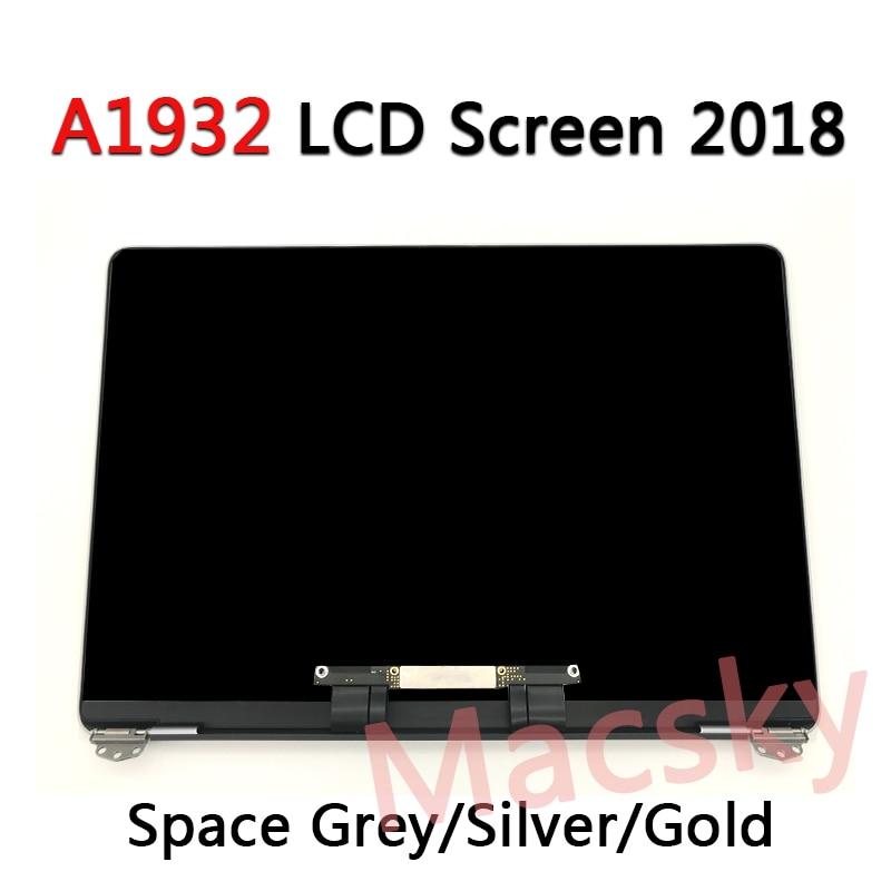 Nuevo conjunto A1932 para Macbook Air Retina 13 A1932 pantalla LCD Pantalla Completa EMC 3184 MRE82 2018 espacio gris/plata/Glod