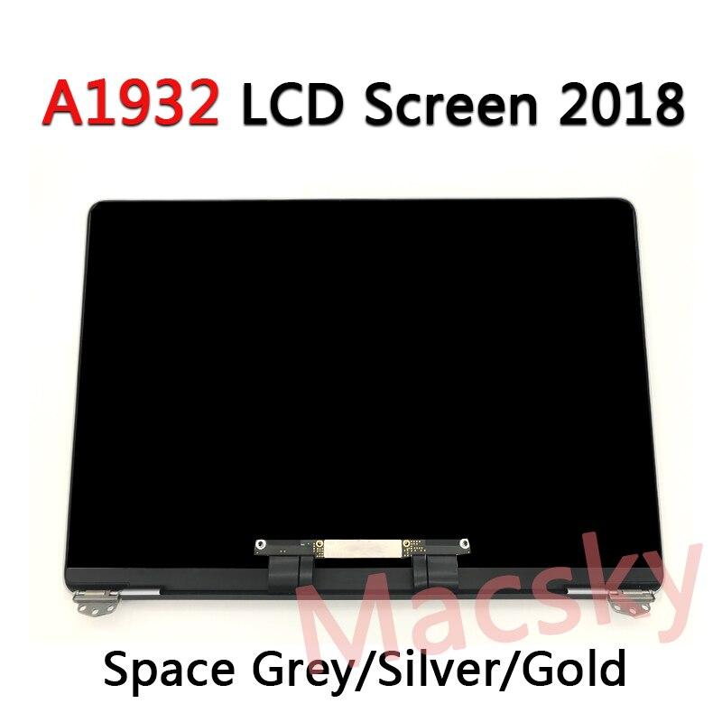 """Tout nouveau A1932 LCD assemblée pour Macbook Air Retina 13 """"A1932 LCD écran plein écran EMC 3184 MRE82 2018 espace gris/argent/or"""