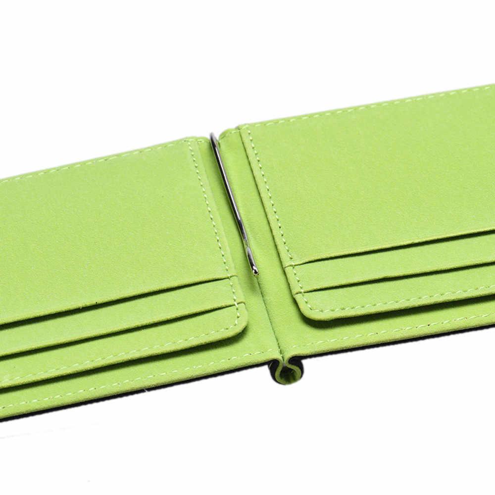 กระเป๋าสตางค์ชาย PU หนัง Hasp กระเป๋าถือกระเป๋าสตางค์ซิปสั้นกระเป๋าสตางค์เหรียญกระเป๋าคลัทช์เงินคลิป #1118