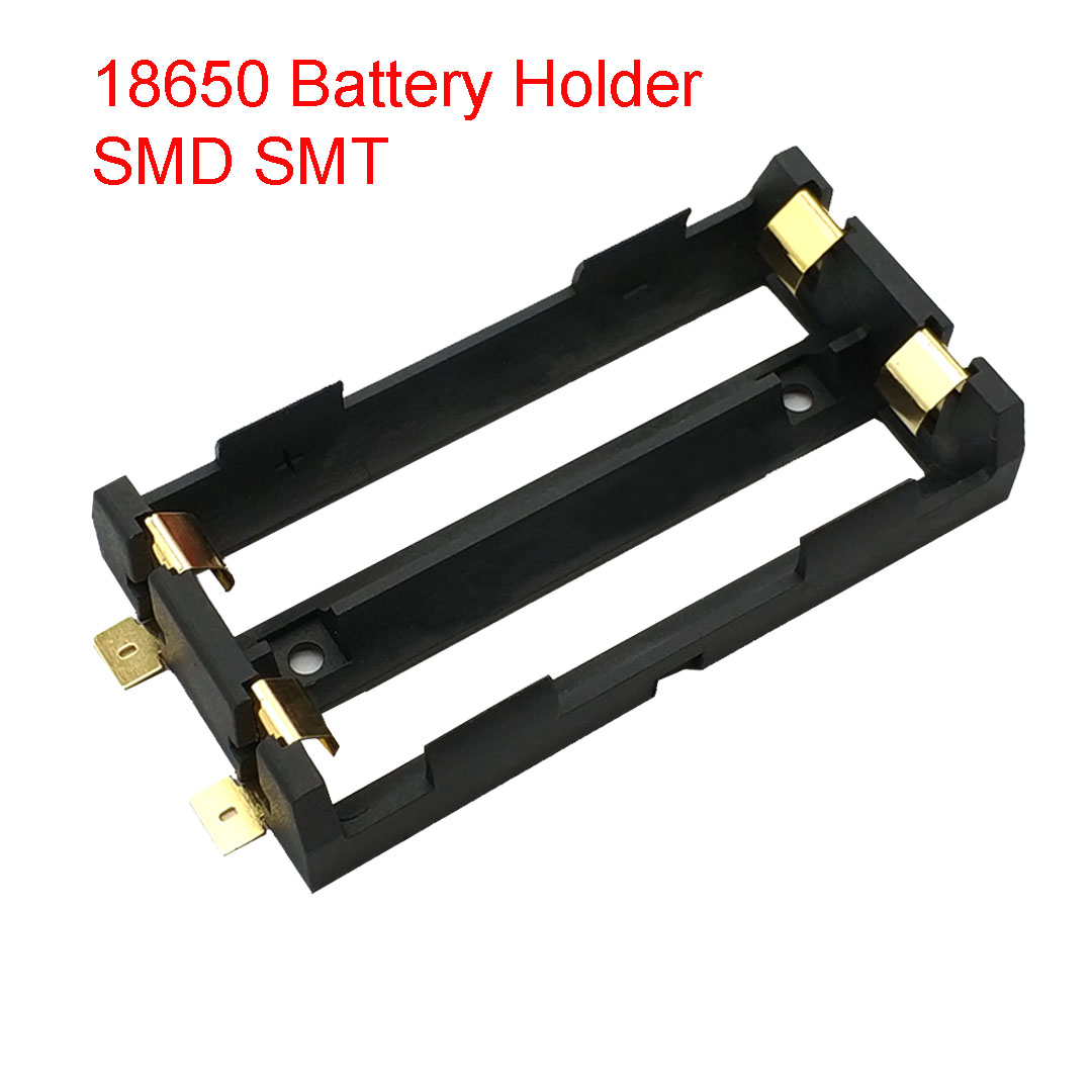 2 X 18650 Battery Holder SMD SMT High Quality Battery Box With Bronze Pins