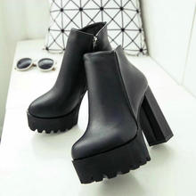 2020 Sexy Ultra High Heels Shoes Woman Female Round Toe Martin Boots Thick Heel Platform Women Shoes Ankle Boots High Heel Boots knsvvli new patchwork patent leather stretch boots woman squaer toe low heel martin boots strange style heel ankle boots women