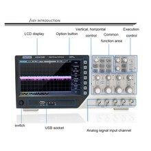 Цифровой осциллограф DSO4084B 80 МГц 4 канала 1 Gsa/s Встроенный USB осциллограф+ EXT+ DVM+ Функция автоматического диапазона