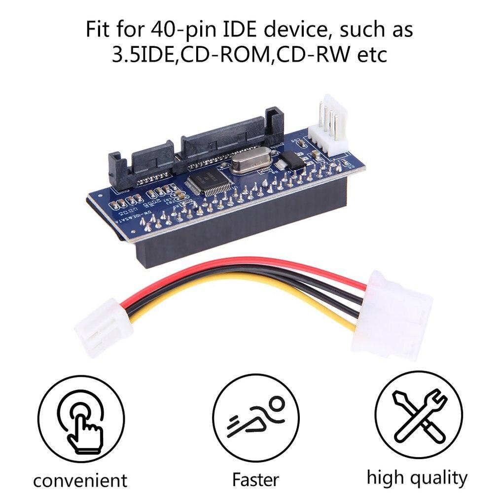 3,5 HDD IDE/SATA/PATA SATA конвертер адаптер карты для IDE/SATA 40-контактный жесткий диск тормозной диск для записи dvd-дисков SATA 7pin данных кабель материнско...