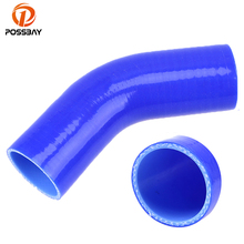 Hose Coupler Turbo Reducer Cold-Air-Intake-Pipe Silicone 45-Degree POSSBAY Car-Constant-Diameter