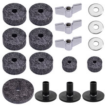 18pcs Anti Friction Drum Washer Butterfly Nuts Replacement Musical Instrument Felt Pad Kit Protective Durable Cymbal Sleeves(China)