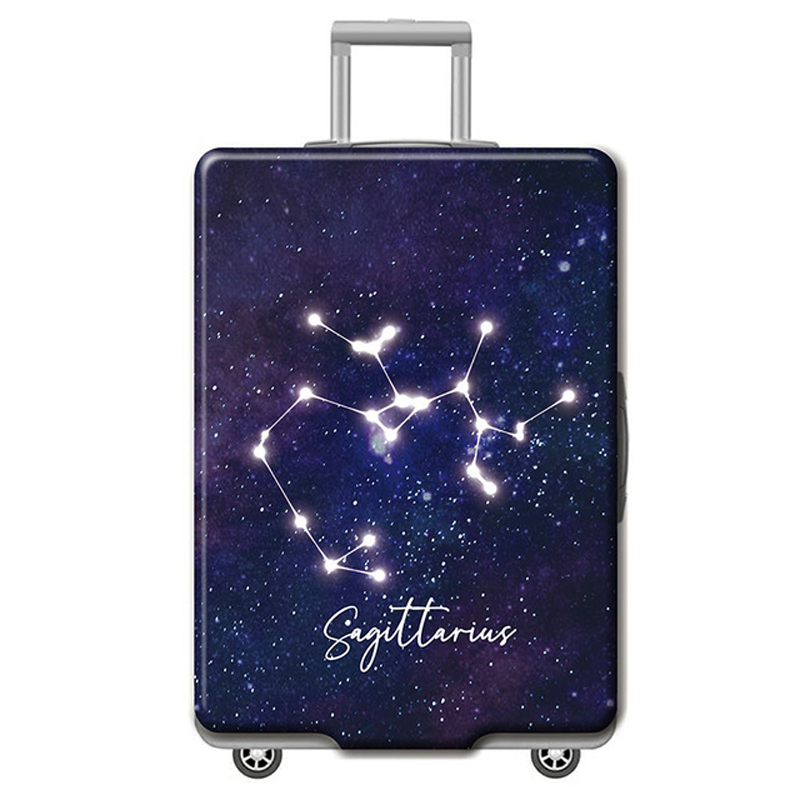 Twelve Constellations Patterns Thicken Luggage Elastic Protective Covers Trolley Suitcase Case For 18-32 Inch Travel Accessorie