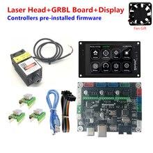 Grbl 1.1 módulo de laser cnc mks dlc v2 mks tft 35 tela sensível ao toque cnc para diy máquina gravura em madeira roteador gravador atualização