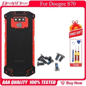 Image 5 - Nieuwe Batterij Case Beschermende Batterij Case Back Cover + Power Volume Kabel + Vingerafdruk Kabel + Camera Glas Voor Doogee s70/S70 Lite