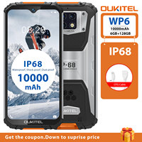 OUKITEL WP6 6G RAM 128G ROM 6.3 Smartphone Octa Core IP68 Waterproof 9V/2A 10000mAh Battery 48MP Triple Camera Mobile Phone