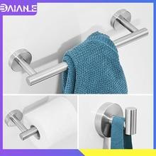 Towel Bar Set Stainless Steel Towel Rack Hanging Holder Toilet Paper Holder Wall Mounted Coat Robe Hook Bathroom Hook for Towels стоимость
