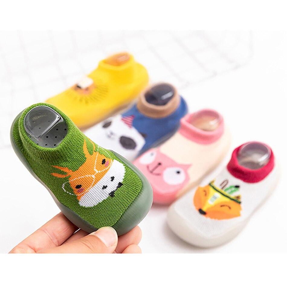 Детские хлопковые носки для детей; Обувь резиновая подошва От 0 до 3 лет домашняя одежда для детей ясельного возраста обучения для Обувь для ...