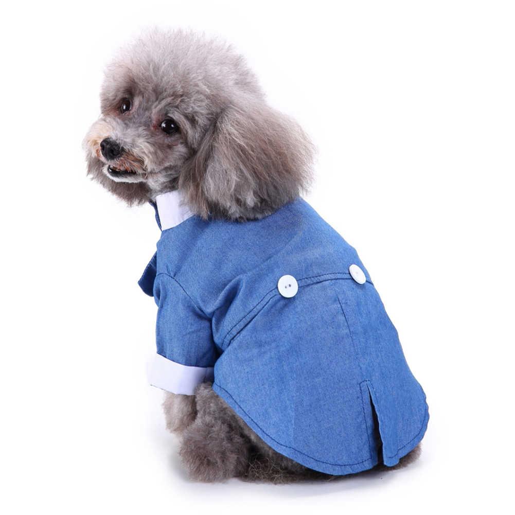 Traje de esmoquin Formal con pajarita de estilo británico para mascotas y perros, traje de chaqueta para fiesta y novio