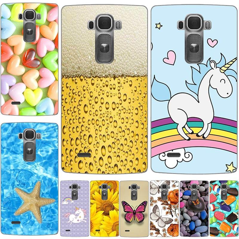 Coque Funda For LG G Flex 2 H955 LS996 Soft Silicone Back Cover For LG FLEX2 Original Printed Cute Animal Flower Phone Case
