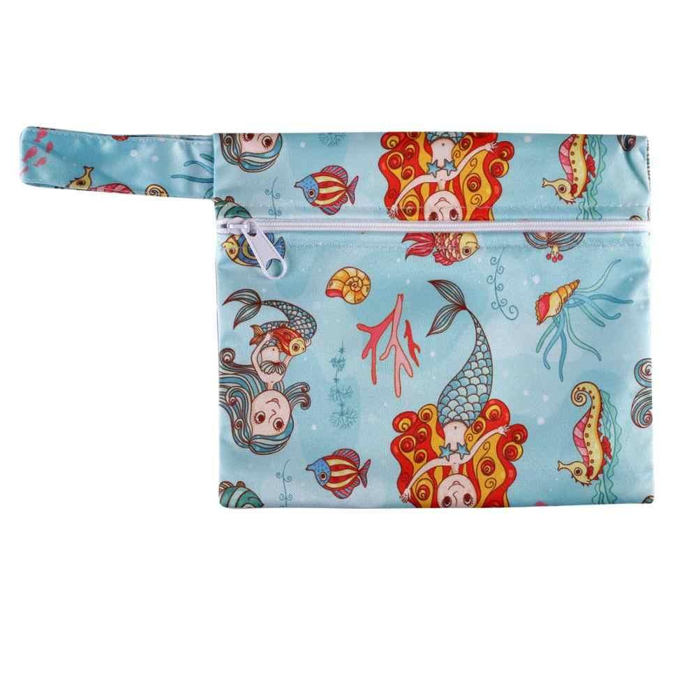 Mini bolsa de pañales para bebé, bolsa de plástico mojado, bolsa impermeable para pañales para bebé, bolsa para pañales para mamá MJW27
