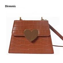цена на New Fashion Handbag Women Solid Luxury Brown Tote Heart Handbag Party PU Leather Vintage Shoulder Bag Chain Casual Day Clutch