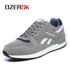Image 1 - Кроссовки OZERSK Мужские дышащие, повседневная обувь на плоской подошве, Классические брендовые, размеры 36 45, осень 2021