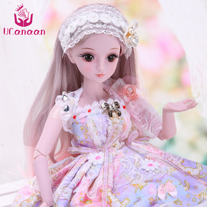 Image 3 - UCanaan 23.6 BJD SD Doll 19 Ball Joints Dolls with Clothes Outfit Shoes Wig Hair Makeup for Girls