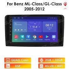 2G + 32G Android 10 Voor Mercedes Ml W164 Gl GL320 ML350 ML500 X164 GL350 GL450 2005   2012 Auto Radio Multimedia