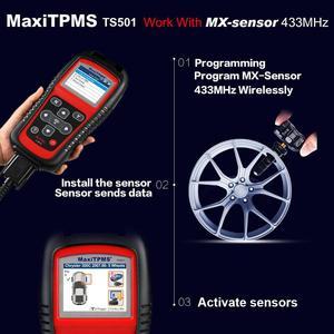 Image 2 - Autel maxitpms TS501 再学習ツールtpmsリセット、tpms診断、/クリアtpms dtc、センサー活性化、プログラムmxセンサー、キー
