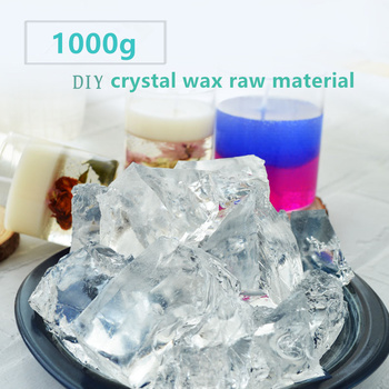 1000g transparent jelly Wax candle raw material DIY crystal candle cup handmade scented wax candle Supplies high qualit 1000g pack 100% pure soy wax for candle making diy candle material flake candle wax smokeless waxed diy candles