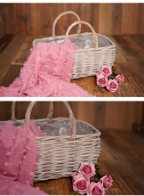 Baby photo prop basket newborn photography props photography accessories Hemp rope weaving props
