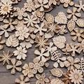 100 шт. 20 мм DIY каракули обучающая игрушка маленькие натуральные деревянные Ломтики украшения для скрапбукинга «сделай сам» крафтовый Декор (...