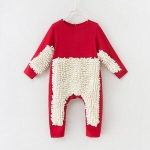Детский комбинезон для мальчиков и девочек, одежда с длинными рукавами для ползания, хлопковый комбинезон для младенцев, костюм-Швабра