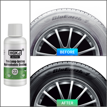HGKJ Tire Coating Wash Cleaning Tools Tyre Inflators Car Accessories Tire Long-lasting Care Hydrophobic Coating Nano Coating 30ml hardness 10h super hydrophobic car glass coating car liquid coat paint care durability anti corrosion coating set