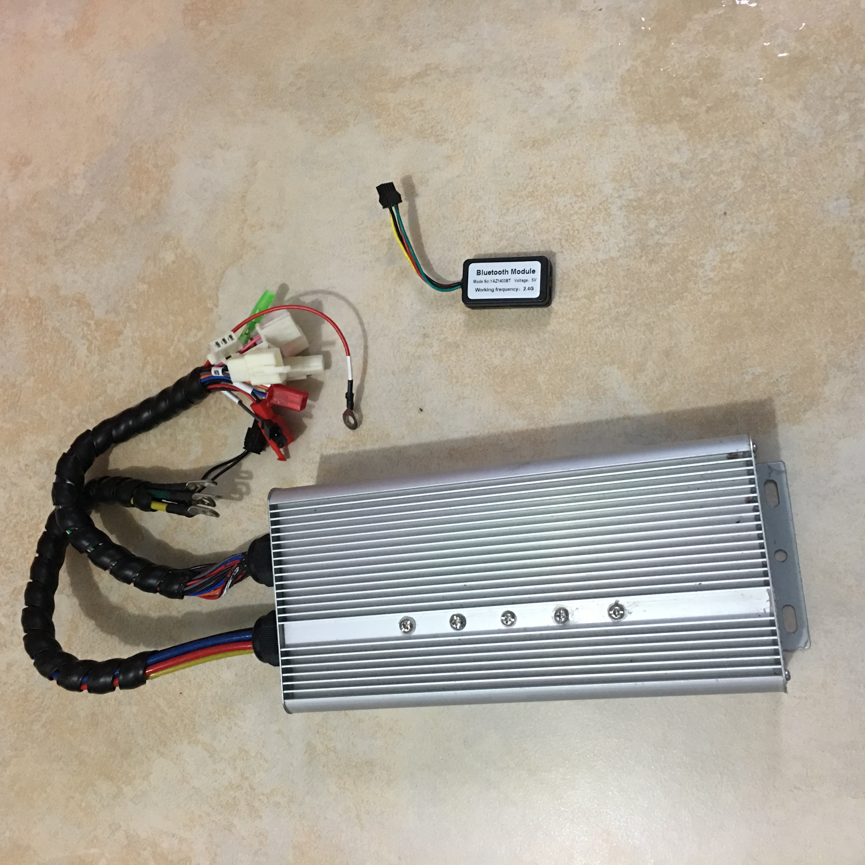 Yuyang King YKZ9650 84V <font><b>96V</b></font> 50A 800W-1000W BLDC Controller For Electric Scooter E-bike with Bluetooth image