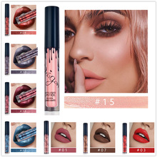 16 Colors Matte Metallic Lipgloss Long Lasting Liquid Lipstick Lip Tint Non Stick Cup Lip Gloss Sexy Lip Makeup Beauty Cosmetic недорого