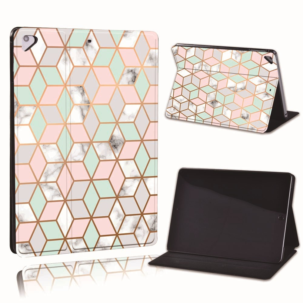 (8th 8 Printed 2020 For PU Generation) iPad Geometry Leather A2428 Apple A2429 8 10.2