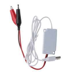 AA AAA батарея с разъемом USB 5 В до 1,5 В/3V4. 5 в понижающий кабель с зажимом преобразователь напряжения для часов игрушки с дистанционным управлен...