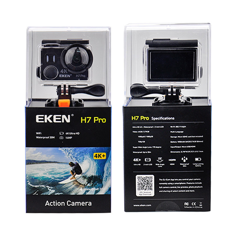 EKEN A12 Ultra HD 4K 30FPS WIFI Action Camera waterproof 14MP 1080p 60fps H7pro Ambarella go underwater extreme pro sport cam image
