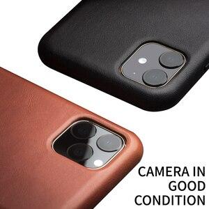 Image 4 - QIALINO hakiki deri ince telefon iPhone için kılıf 11/11 Pro moda saf el yapımı anti vurmak arka kapak iPhone 11 Pro Max