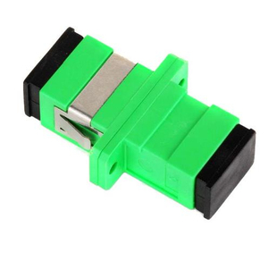Image 2 - 100pcs SC APC Adapter SM  Optical Flange Coupler Simplex SC Optical Fiber Connector and Coupler Ftth Fiber Optic SC Adapter