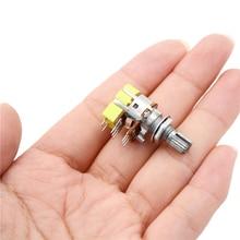 1 шт. B50K R125G Ohm Двойной линейный конический регулятор громкости потенциометр переключатель для управления аудио оборудованием