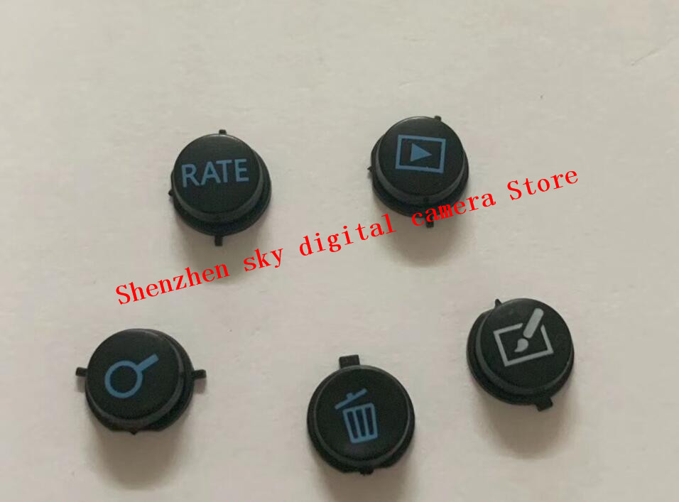 5PCS NEW Original Rear Back Cover Menu Rate Play Button Key For Canon 5D3 5D Mark III