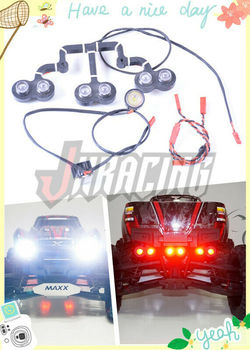 High-brightness LED lamp set with lights bracket for 1:10 TRAXXAS X-MAXX