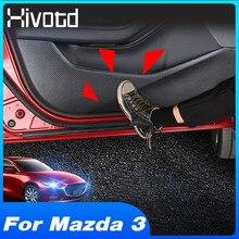 Hivotd For Mazda 3 2020 2019 Accessories Interior Decoration Car Door Anti Kick Pad Side Edge Film Strip Sticker Cover