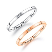 Zirconia Engagement Wedding Finger Rings For Women Fashion Brand Rose Gold Luxury Ring Female Jewelry Accessories 2mm Rings luxury large pink opal finger rings rose gold color fashion brand cubic zirconia punk jewellery jewelry for women dfr086