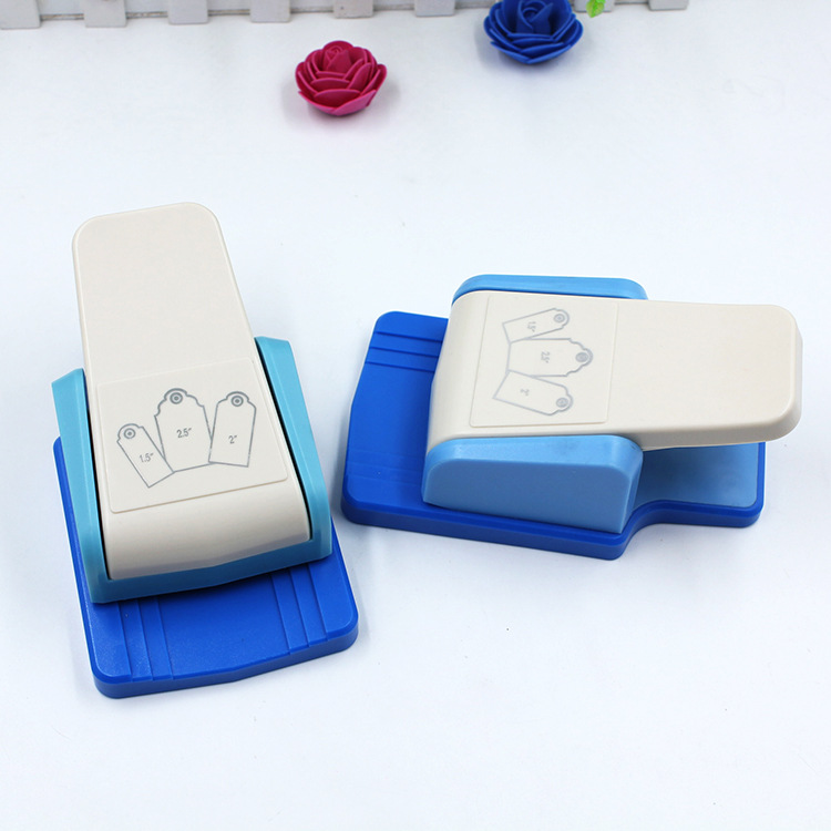 DIY Tag Puncher Educational Embossing Machine Craft Punch Handmade Craft Hole Punch Eva Foam Puncher Kids Scrapbook Paper Cutter