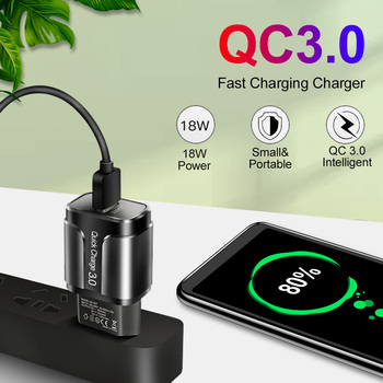 18W Quick Charge 3.0 USB Charger QC 3.0 4.0 For Samsung A50 iPhone Xr 11 8 7 Xiaomi Huawei USB Plug Phone/Fast Charger Adapter 1