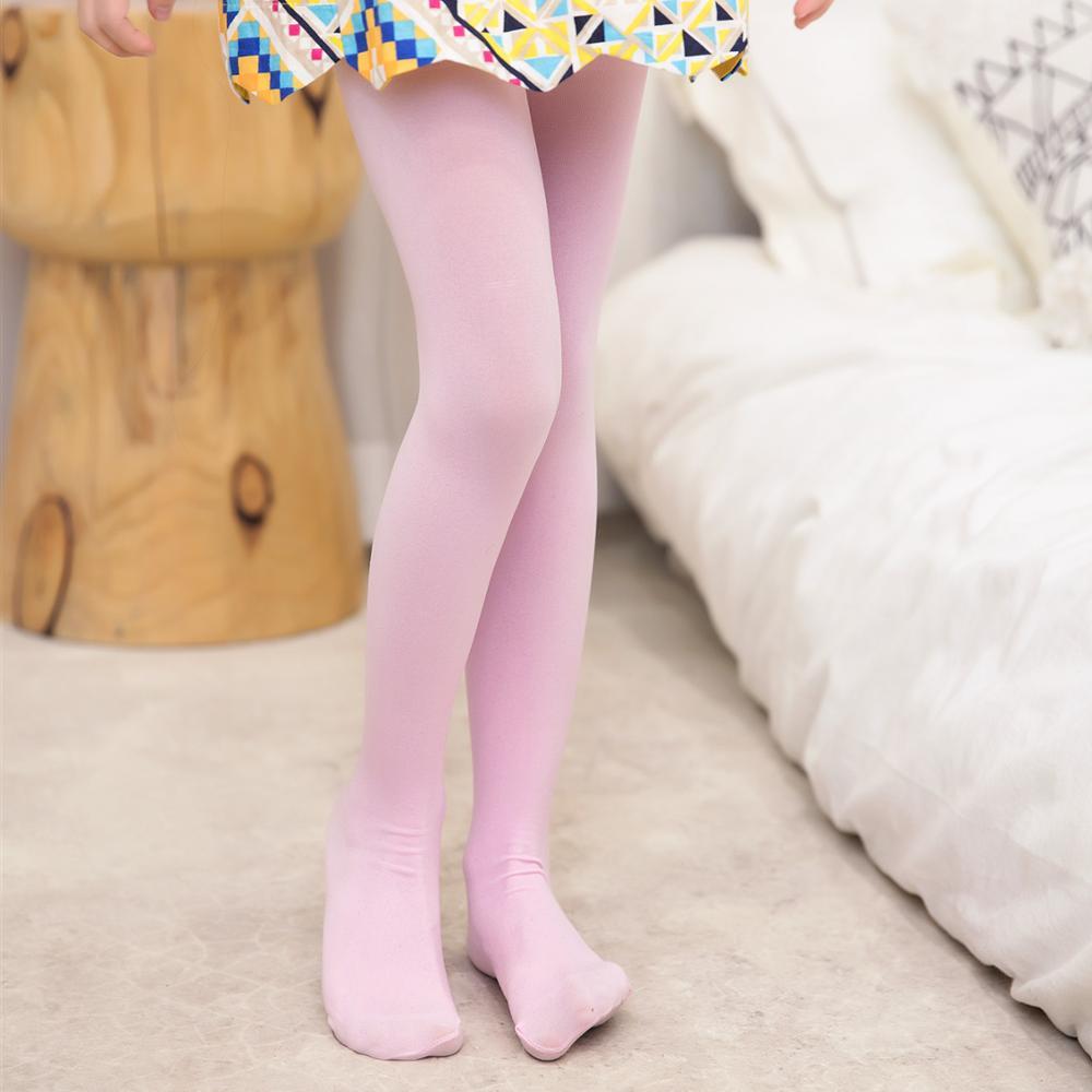 Anti-pilling Velvet Tights Spring Autumn Girls Pantyhose Kids Children Stockings White Pink Children Dance Tights