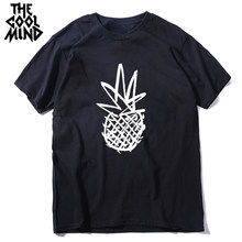 Coolmind 100% Katoen Ananas Print Mannen T-shirt Casual Korte Mouw Mannen T-shirt Cool T-shirt Man Top Tee Shirts(China)